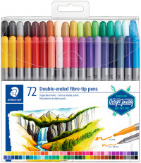Staedtler Double Ended Fibre Tip Pens - Assorted Colours (Wallet of 72)