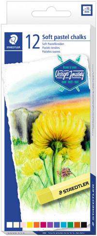 Staedtler Karat Soft Pastel Chalks - Assorted Colours (Pack of 12)