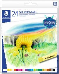 Staedtler Karat Soft Pastel Chalks - Assorted Colours (Pack of 24)