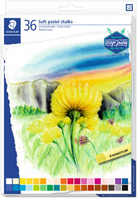 Staedtler Karat Soft Pastel Chalks - Assorted Colours (Pack of 36)