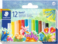 Staedtler Noris Club Oil Pastel Crayons - Assorted Colours (Pack of 12)
