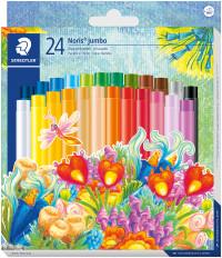 Staedtler Noris Club Jumbo Oil Pastels - Assorted Colours (Pack of 24)