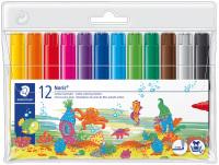 Staedtler Noris Club Jumbo Fibre Tip Pen - Assorted Colours (Pack of 12)