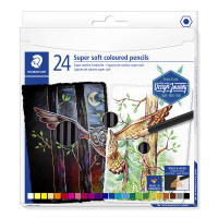 Staedtler Super Soft Colouring Pencils - Assorted Colours (Pack of 24)