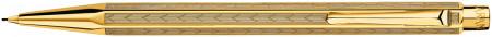 Caran d'Ache Ecridor Pencil - 'Chevron' Gilded