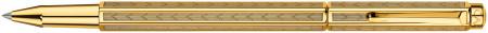 Caran d'Ache Ecridor Rollerball Pen - 'Chevron' Gilded