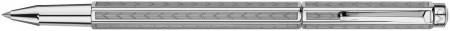 Caran d'Ache Ecridor Rollerball Pen - 'Chevron' Silver Plated