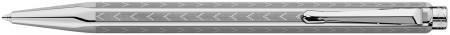 Caran d'Ache Ecridor Ballpoint Pen - 'Chevron' Silver Plated