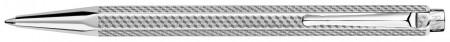 Caran d'Ache Ecridor Ballpoint Pen - 'Cubrik' Silver Plated