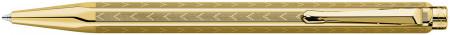Caran d'Ache Ecridor Ballpoint Pen - 'Chevron' Gilded