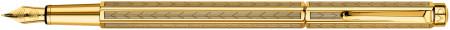 Caran d'Ache Ecridor Fountain Pen - 'Chevron' Gilded
