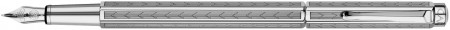 Caran d'Ache Ecridor Fountain Pen - 'Chevron' Silver Plated