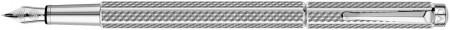 Caran d'Ache Ecridor Fountain Pen - 'Cubrik' Silver Plated