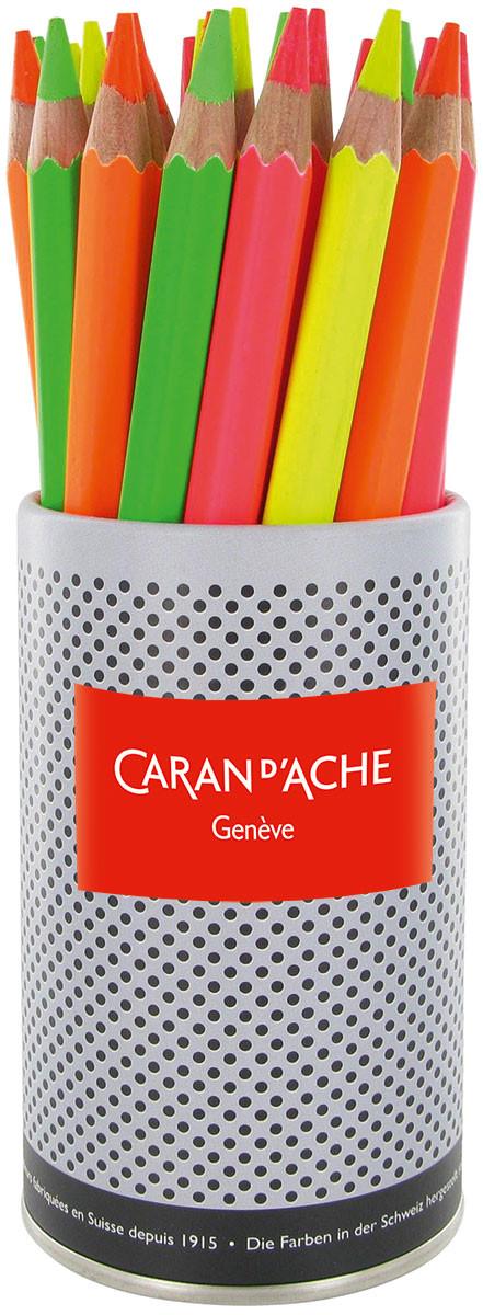 Caran d'Ache Fluorescent Pencils - Assorted Colours (Pack of 30)