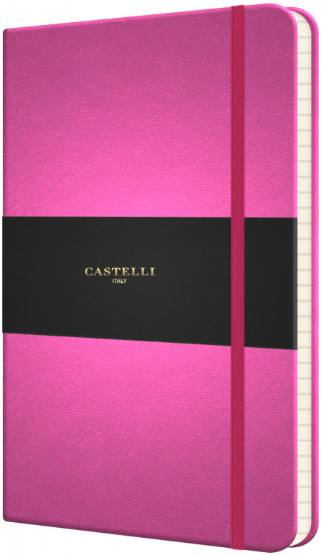 Castelli Flexible Pocket Notebook - Ruled - Pink