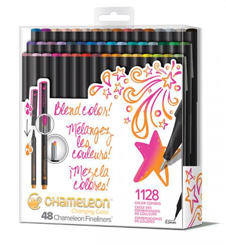 Chameleon Fineliner Pens - Brilliant Colours (Pack of 48)