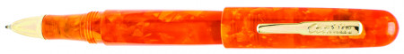 Conklin All American Ballpoint Pen - Sunburst Orange Gold Trim