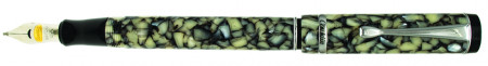 Conklin Duragraph Fountain Pen - Cracked Ice Chrome Trim
