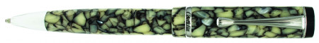 Conklin Duragraph Ballpoint Pen - Cracked Ice Chrome Trim