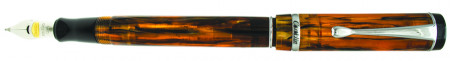 Conklin Duragraph Fountain Pen - Amber Chrome Trim