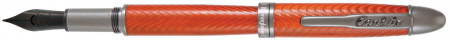 Conklin Herringbone Fountain Pen - Orange