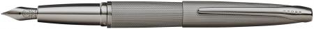 Cross ATX Fountain Pen - Sandblasted Titanium Grey