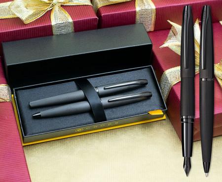 Cross ATX Fountain & Ballpoint Pen Set - Brushed Black