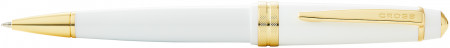 Cross Bailey Light Ballpoint Pen - White Resin with Gold Plated Trim