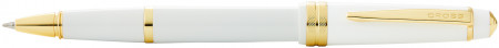 Cross Bailey Light Rollerball Pen - White Resin with Gold Plated Trim