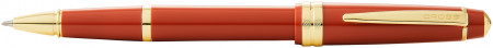 Cross Bailey Light Rollerball Pen - Amber Resin with Gold Plated Trim