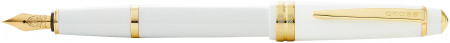 Cross Bailey Light Fountain Pen - White Resin with Gold Plated Trim