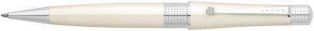 Cross Beverly Ballpoint Pen - Pearlescent White Lacquer Chrome Trim