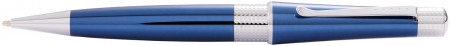Cross Beverly Ballpoint Pen - Blue Lacquer Chrome Trim