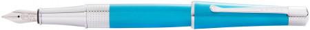 Cross Beverly Fountain Pen - Teal Lacquer Chrome Trim