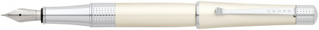 Cross Beverly Fountain Pen - Pearlescent White Lacquer Chrome Trim