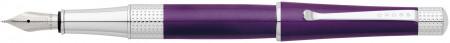 Cross Beverly Fountain Pen - Purple Lacquer Chrome Trim