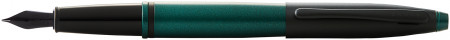 Cross Calais Fountain Pen - Green Lacquer Black Trim