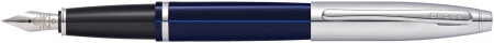 Cross Calais Fountain Pen - Translucent Blue Chrome Trim