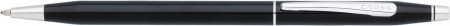 Cross Classic Century Ballpoint Pen - Black Lacquer Chrome Trim