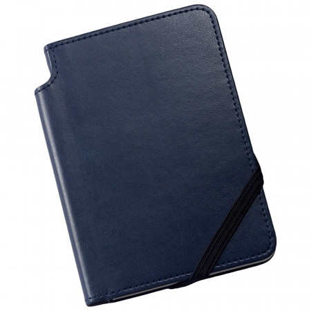 Cross Ruled Leather Journal - Midnight Blue - Small