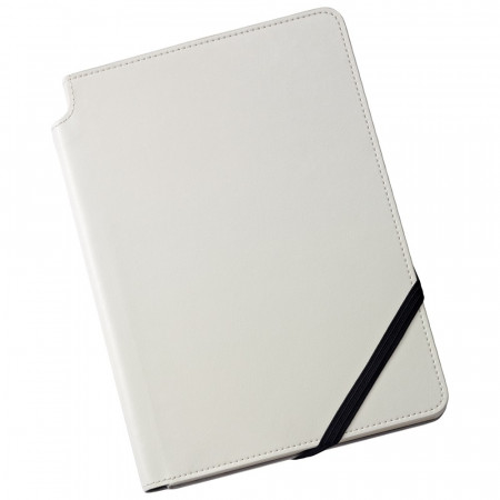 Cross Ruled Leather Journal - Classic White - Medium
