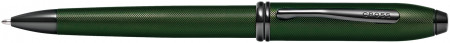 Cross Townsend Ballpoint Pen - Micro Knurled Green PVD