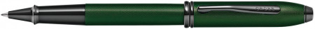 Cross Townsend Rollerball Pen - Micro Knurled Green PVD