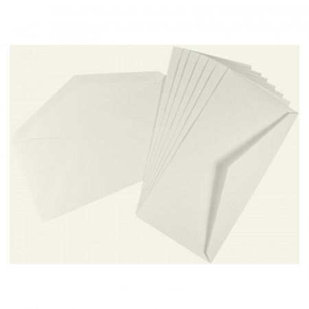 Crown Mill Classics DL Envelopes - Pack of 25 - White