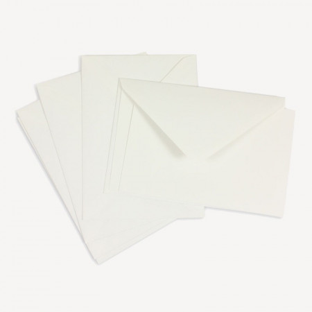 Crown Mill Classics C6 Set of 15 Cards and Envelopes - White