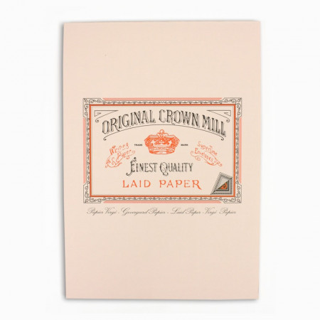 Crown Mill Classics A5 Paper Pad - 50 Sheets - Pink