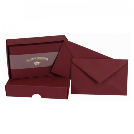 Crown Mill Colour Line Set of 25 Cards and Envelopes - Bordeaux