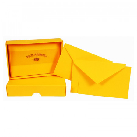 Crown Mill Colour Line Set of 25 Cards and Envelopes - Mango