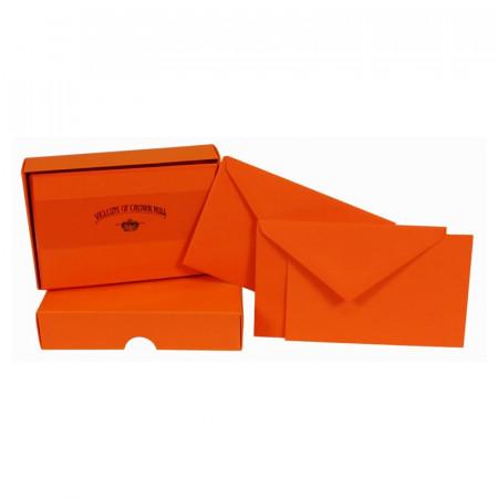 Crown Mill Colour Line Set of 25 Cards and Envelopes - Orange