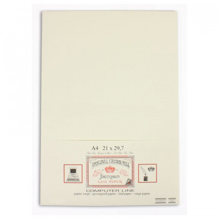 Crown Mill Computer Line A4 100gsm Paper - Pack of 50 - Cream